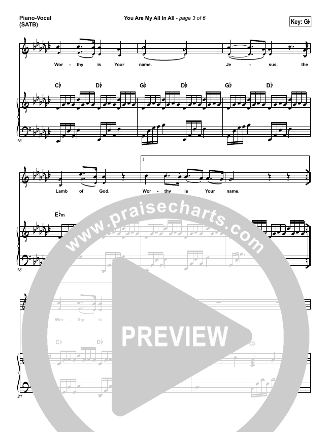 You Are My All In All Piano/Vocal (SATB) (Tommee Profitt & Brooke Griffith)