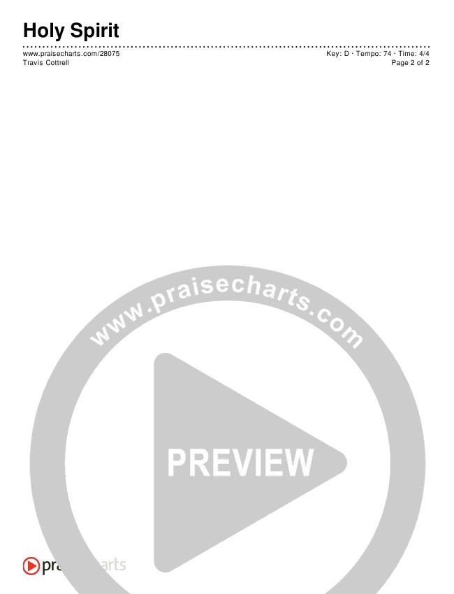 Holy Spirit  Chords & Lyrics (Travis Cottrell)