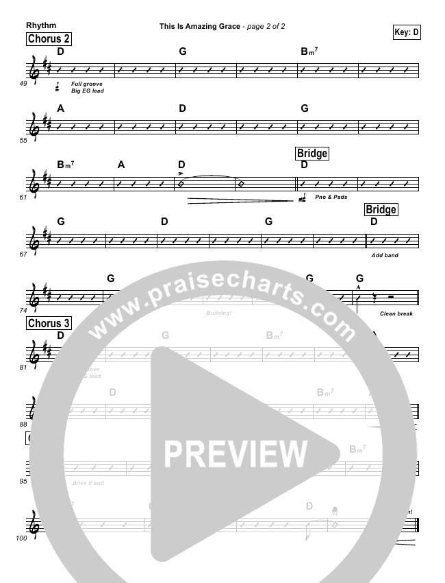 This Is Amazing Grace Rhythm Chart (Cross Church Worship / Beth Gaglian)