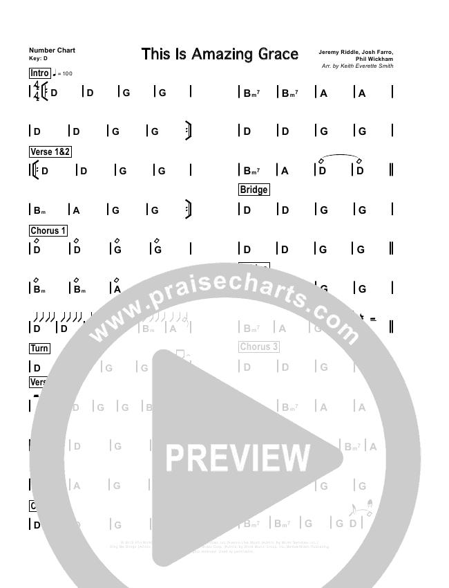 This Is Amazing Grace Chord Chart (Cross Church Worship / Beth Gaglian)
