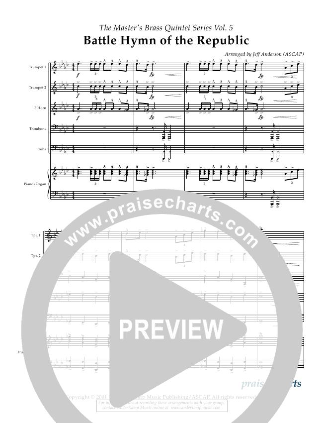 Battle Hymn Of The Republic Brass Quintet Anderkamp Music
