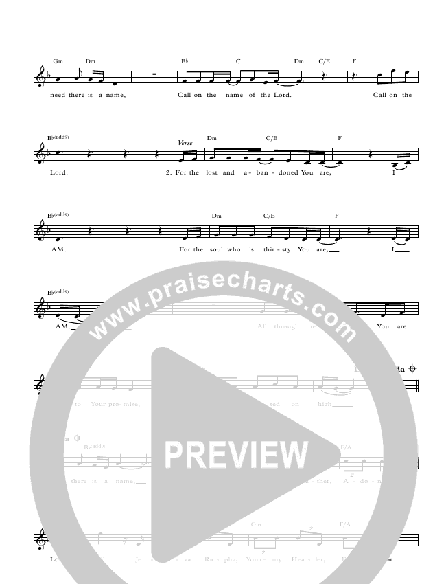 Call On The Name Lead & Piano (Paul Wilbur)