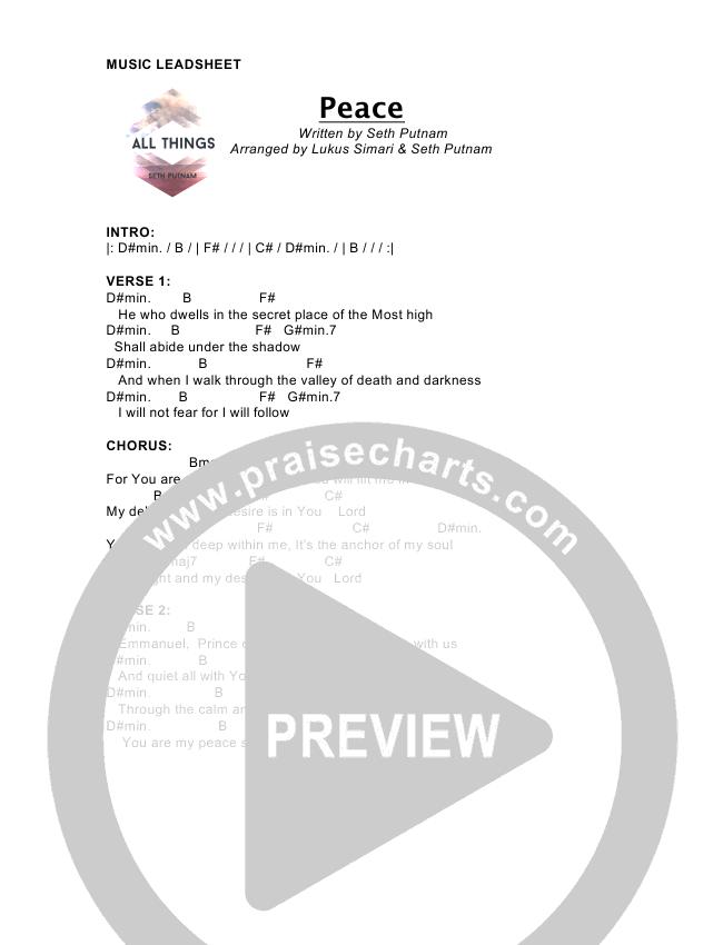 Peace Chord Chart (Seth Putnam)