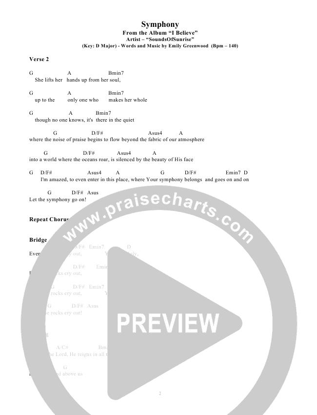 Symphony Chords & Lyrics (SoundsOfSunrise)