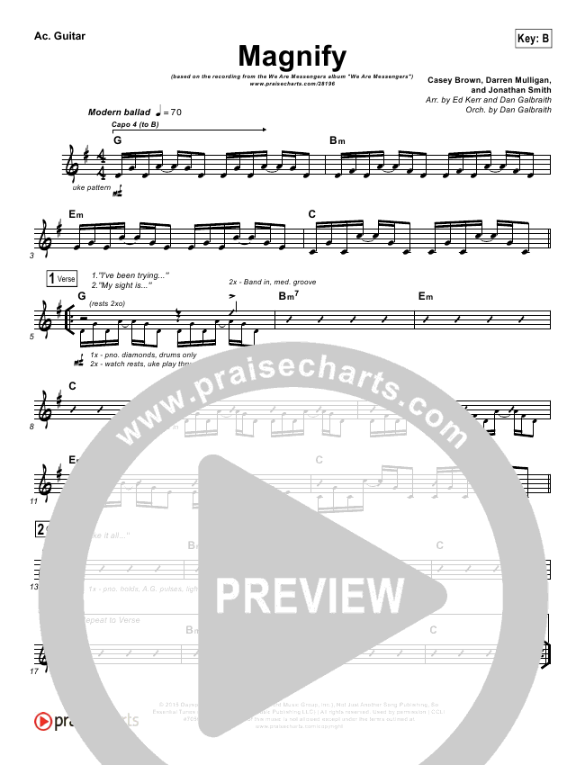 Magnify Rhythm Chart (We Are Messengers)