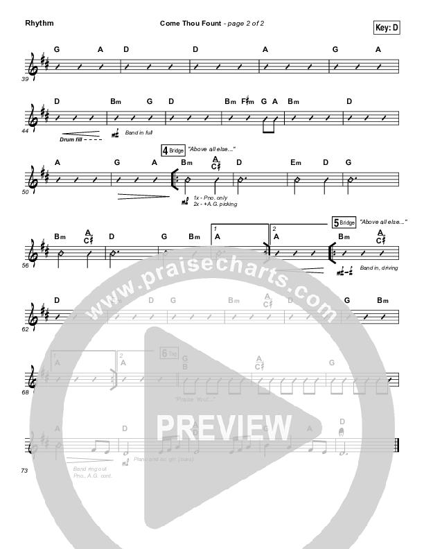 Come Thou Fount Rhythm Chart (Shane & Shane / The Worship Initiative)