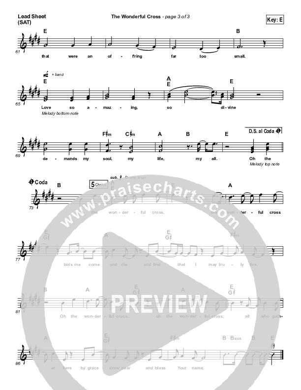 The Wonderful Cross Lead (SAT) (Shane & Shane / The Worship Initiative)