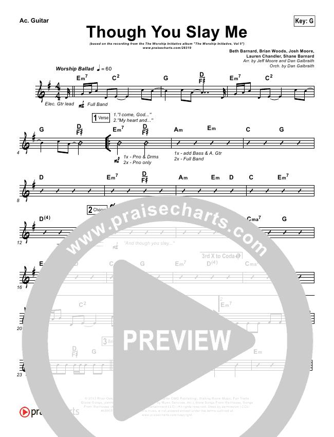 Though You Slay Me Rhythm Chart - Shane & Shane, The Worship ...