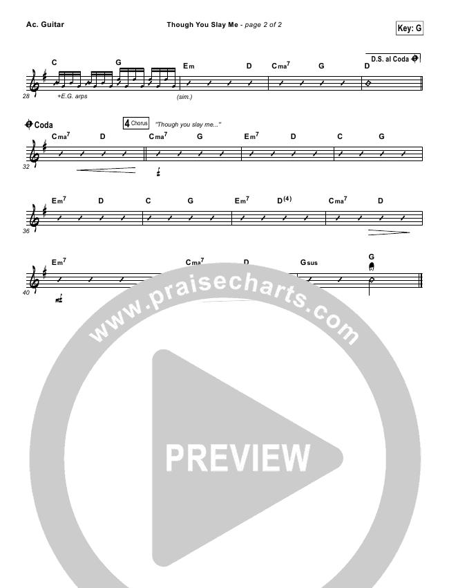Though You Slay Me Rhythm Chart (Shane & Shane / The Worship Initiative)