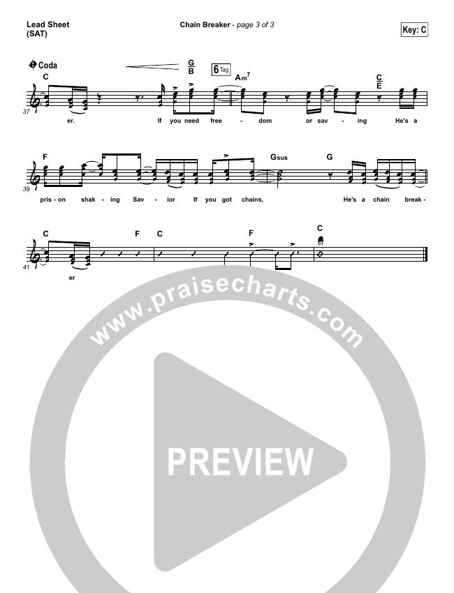 Chain Breaker Lead & Piano/Vocal (Zach Williams)