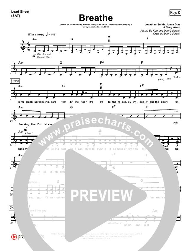 Breathe Lead & Piano/Vocal (Jonny Diaz)