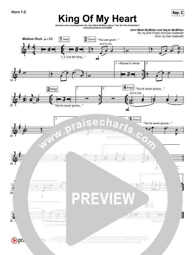 King Of My Heart Brass Pack (John Mark McMillan / Sarah McMillan)