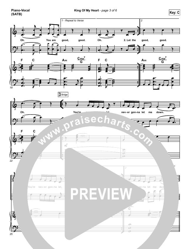 King Of My Heart Piano/Vocal (SATB) (John Mark McMillan / Sarah McMillan)