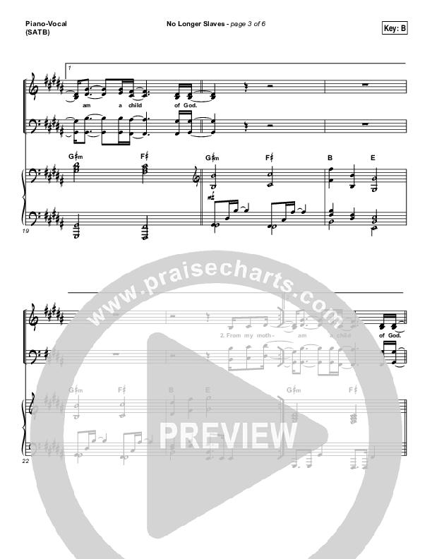 No Longer Slaves Piano/Vocal (SATB) (I Am They)
