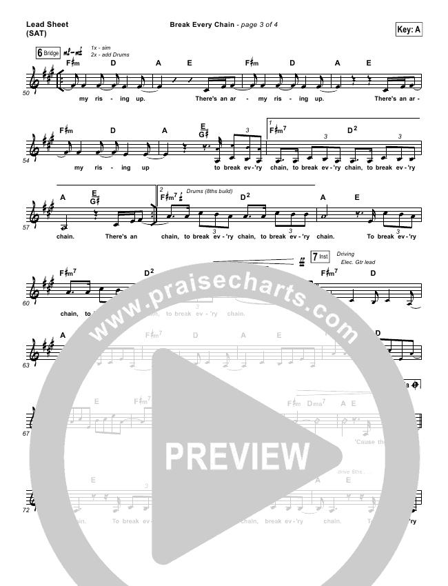 Break Every Chain Piano/Vocal Pack (Jesus Culture / Kristene DiMarco)