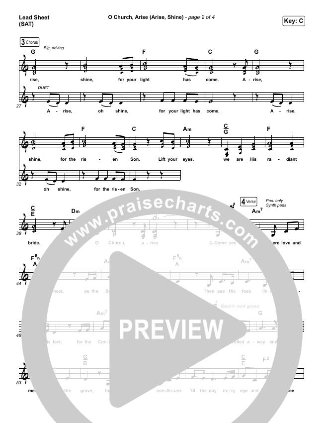 O Church Arise (Arise Shine) Lead & Piano/Vocal (Keith & Kristyn Getty)