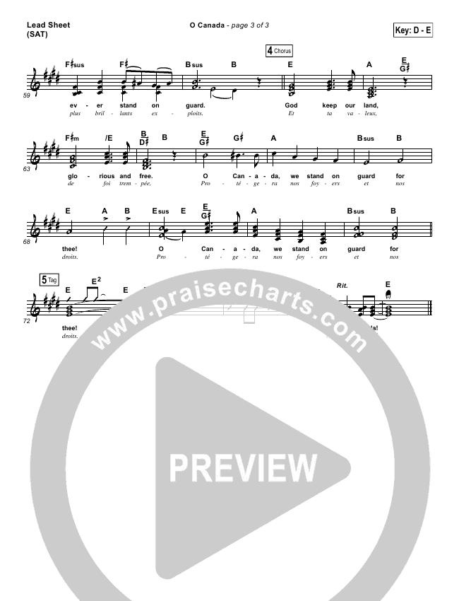 O Canada Orchestration (PraiseCharts Band)
