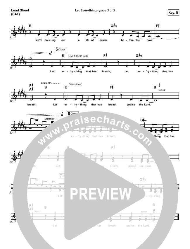 Let Everything Lead Sheet (SAT) (Vertical Worship)