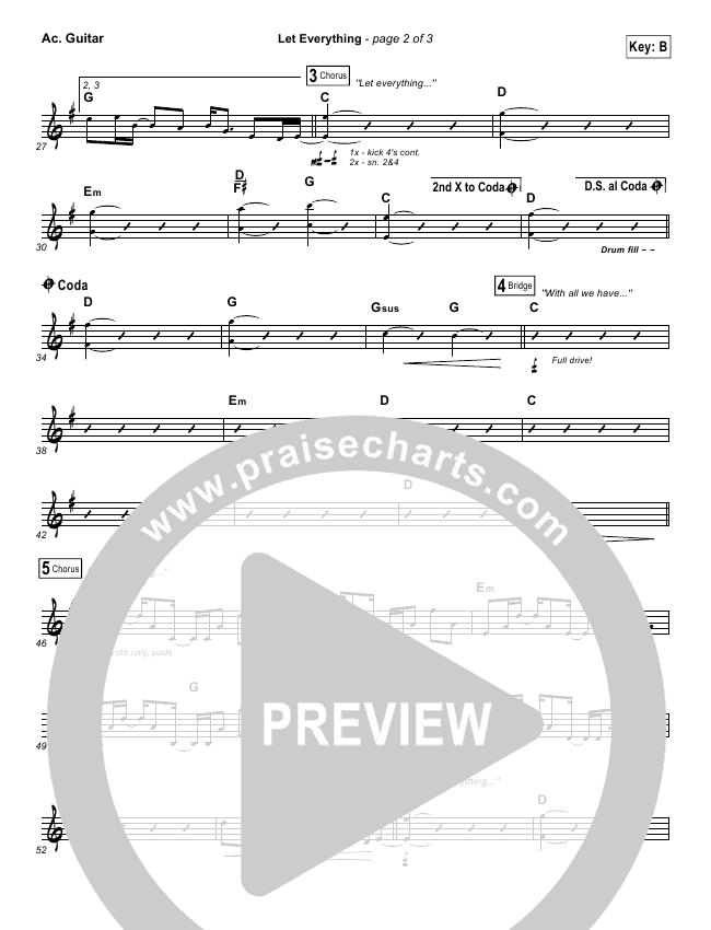 Let Everything Rhythm Chart (Vertical Worship)