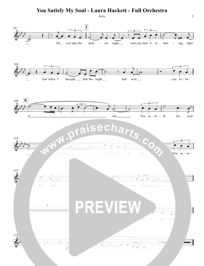 You Satisfy My Soul Lead & Piano/Vocal (Laura Hackett)