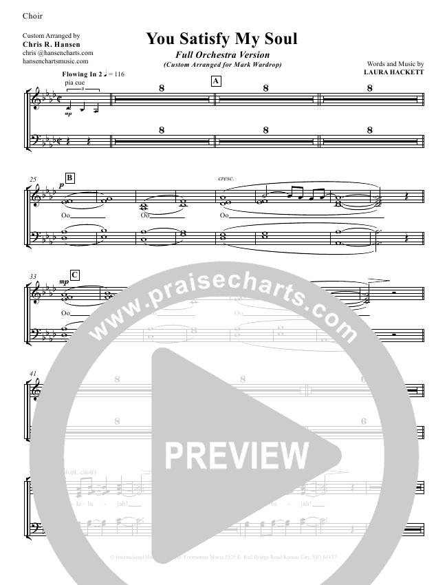 You Satisfy My Soul Choir Sheet (SATB) (Laura Hackett)