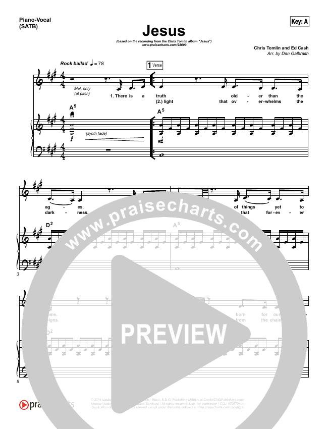 Jesus Piano/Vocal (SATB) (Chris Tomlin)