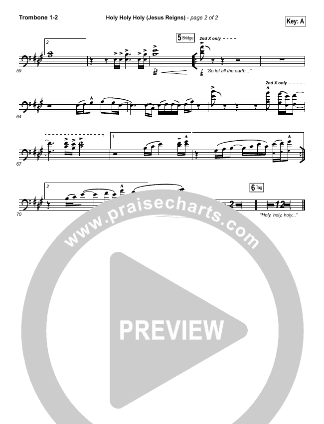 Holy Holy Holy (Jesus Reigns) Brass Pack (Highlands Worship)
