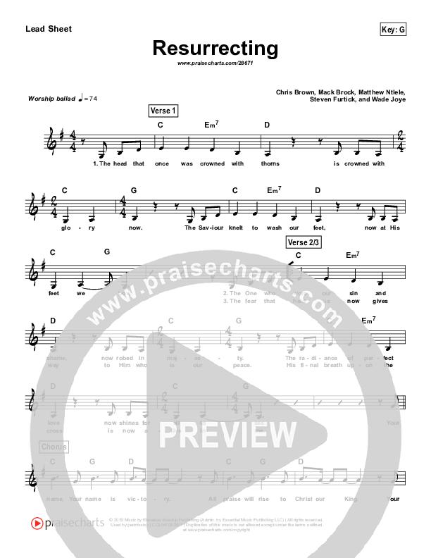 Resurrecting (Simplified) Lead Sheet (Elevation Worship)