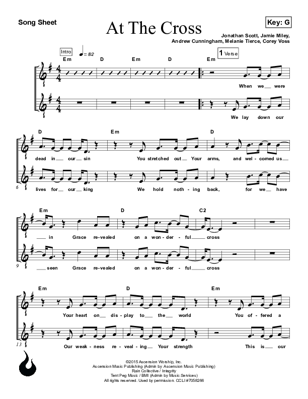 At The Cross Lead Sheet (Ascension Worship)
