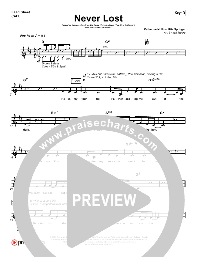 Never Lost Lead Sheet (Ramp Worship)