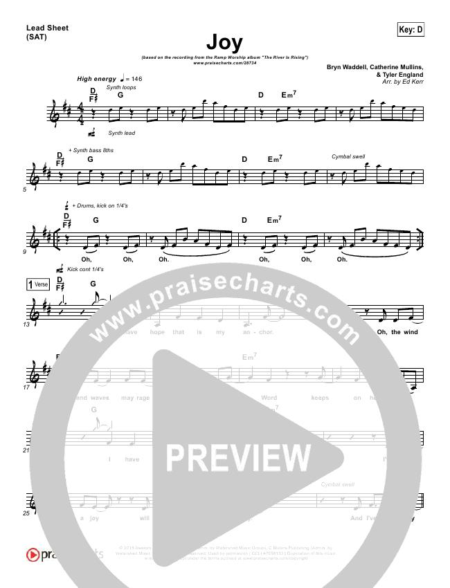 Joy Lead Sheet (Ramp Worship)