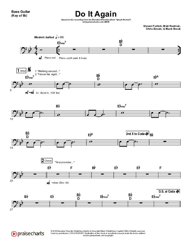 Do It Again Bass Guitar (Elevation Worship)