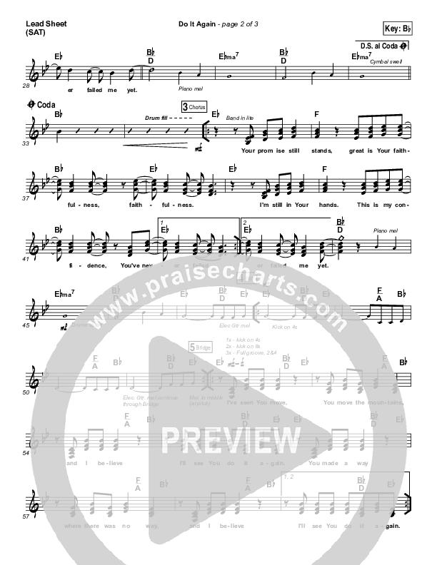 Do It Again Lead Sheet (SAT) (Elevation Worship)