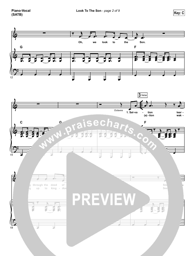 Look To The Son Piano/Vocal (SATB) (Hillsong Worship)