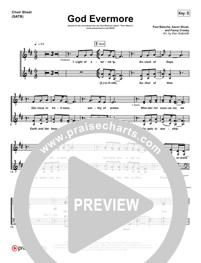 God Evermore Choir Sheet (SATB) (Paul Baloche)