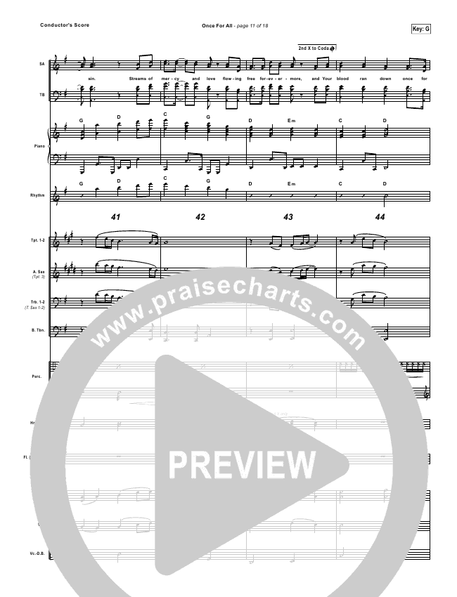 Once For All Orchestration Paul Baloche Praisecharts
