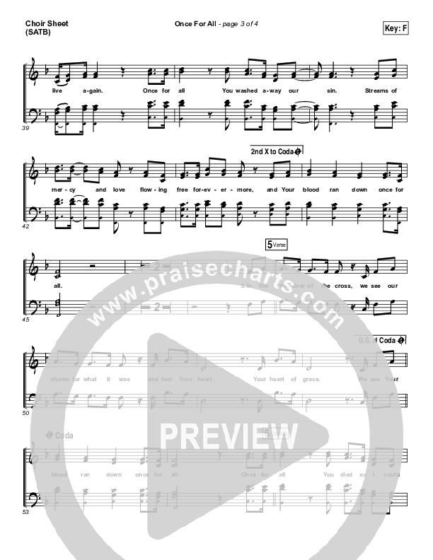 Once For All Choir Sheet (SATB) (Paul Baloche)