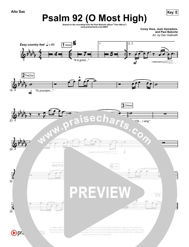Psalm 92 (O Most High) Wind Pack (Paul Baloche)