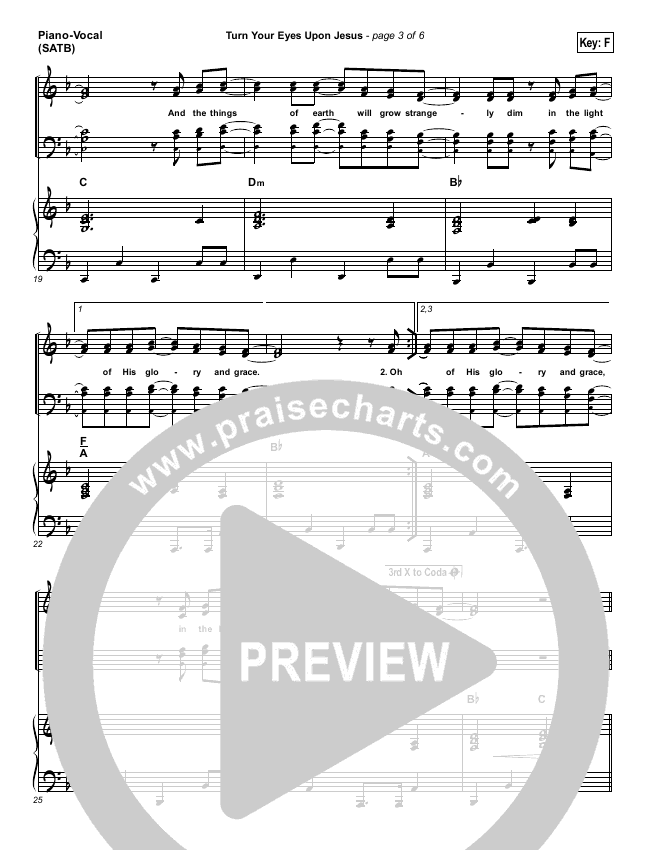 Turn Your Eyes Upon Jesus (We Turn) Piano/Vocal (SATB) (Paul Baloche)