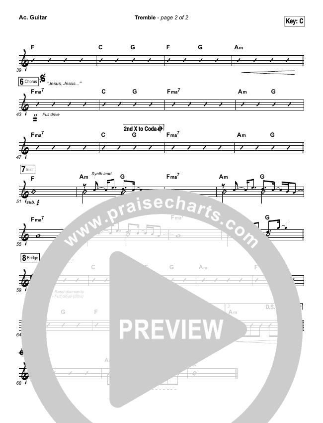 Tremble Rhythm Chart Mosaic Msc Praisecharts