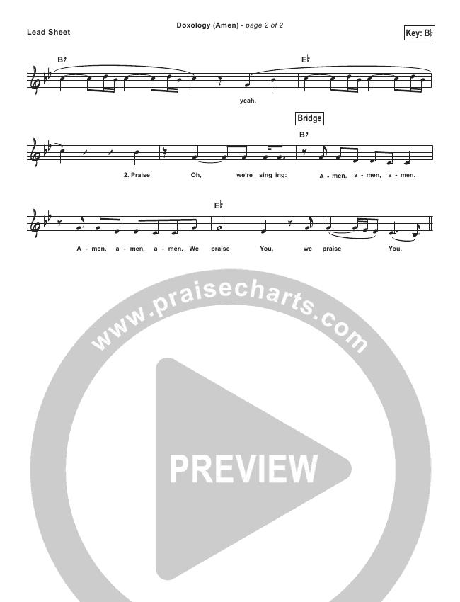 Doxology (Amen) (Simplified) Lead Sheet (Phil Wickham)