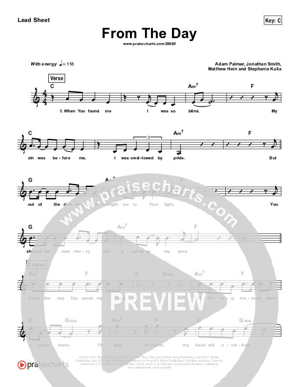 From The Day (Simplified) Lead Sheet (I Am They)