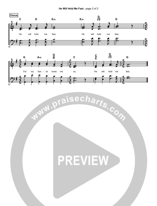 He Will Hold Me Fast (Simplified) Hymn Sheet (Keith Getty / Kristyn Getty)