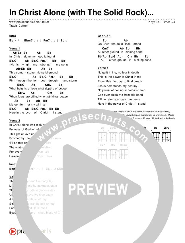 In Christ Alone (Simplified) Chords & Lyrics (Travis Cottrell)