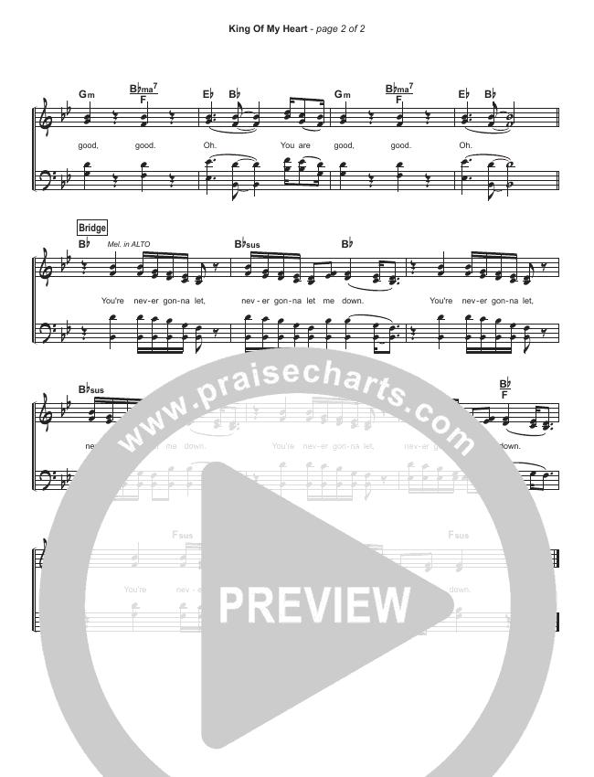 King Of My Heart (Simplified) Hymn Sheet (John Mark McMillan / Sarah McMillan)