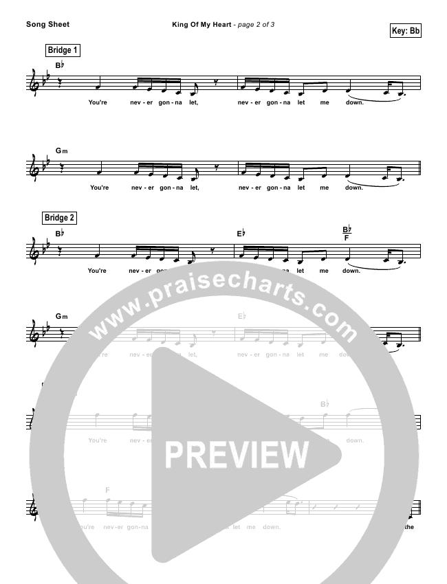 King Of My Heart (Simplified) Lead Sheet (John Mark McMillan / Sarah McMillan)