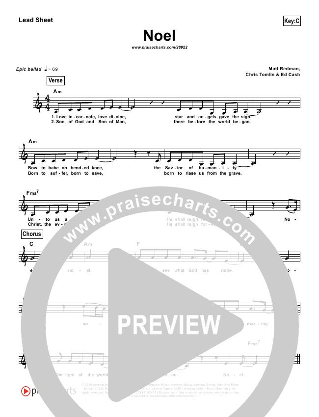 Noel (Simplified) Lead Sheet (Lauren Daigle)