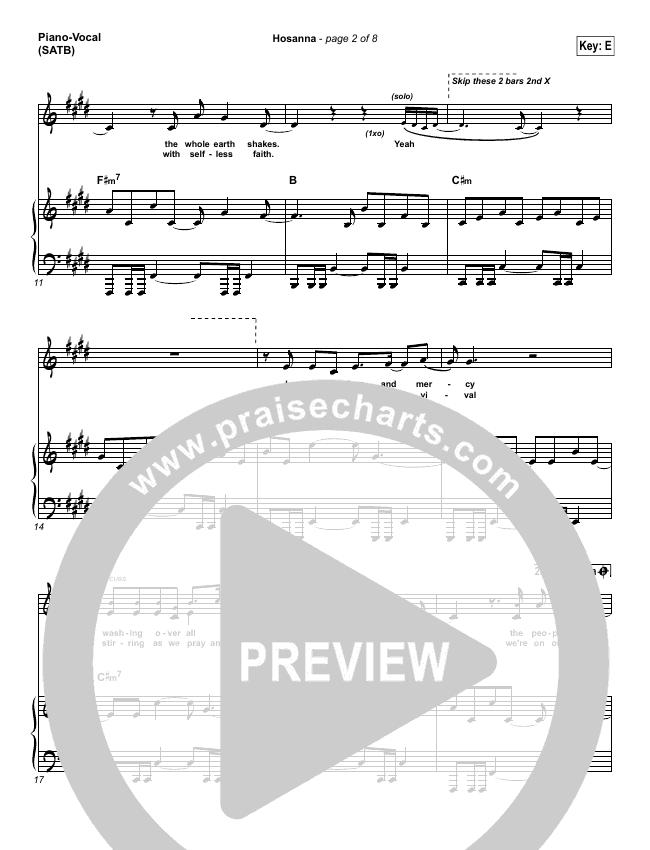 Hosanna Piano/Vocal (SATB) (Hillsong UNITED)