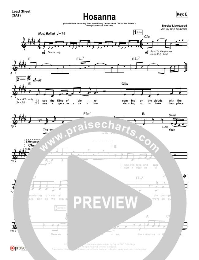 Hosanna Orchestration Hillsong United Praisecharts