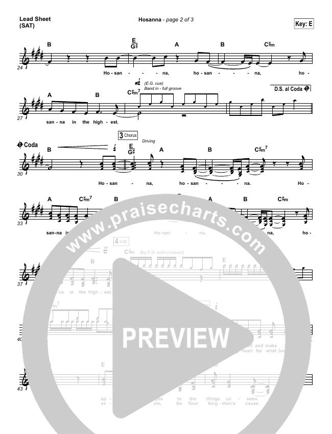 Hosanna Piano/Vocal Pack (Hillsong UNITED)